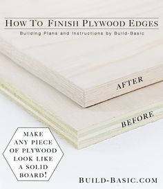 How to Finish Plywood Edges Photo by Build Basic