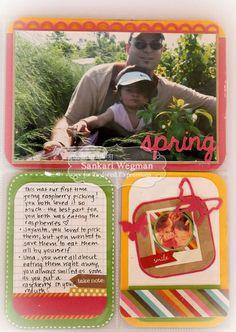 Raspberry Picking Pocket Layout 2 by Sankari Wegman #Scrapbooking, #PocketsandPages