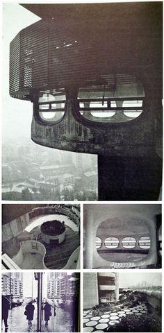 Francisco Javier Sáenz de Oiza: Torres Blancas, top floor, high rise building, Madrid, 1969