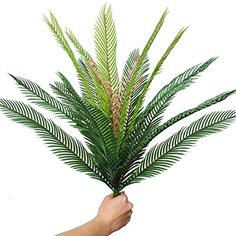 Artificial Palm Leaves Plants Leaves Tropical Greenery Bush Imitation Faux Fake Palm Tree Leaf for Home Kitchen Party...
