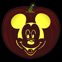 Free mickey mouse mickey mouse stencil disney in 2018 for Mickey mouse vampire pumpkin template