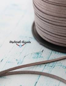 Du cordon lacet en couleur gris souris, vendu au mètre 0,79€, à utiliser pour toutes vos créations :)