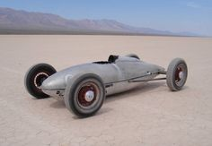 Belly Tank racer, so called as they are made from belly fuel tanks from WWII aircraft. I think this is from a P-51. Beautifully minimalist.