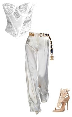 """""""Untitled #75"""" by abbeyjulian on Polyvore featuring Chanel and Giuseppe Zanotti"""