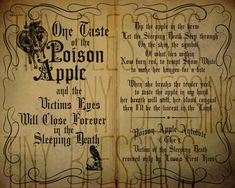 Poison Apple Sleeping Death Spell Chant Printable Quote - set of 2 Witch Spell Book, Halloween Spell Book, Halloween Spells, Spell Books, Halloween Cards, Curse Spells, Magick Spells, Tiny Blessings, Charmed Book Of Shadows