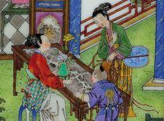 Château de Versailles Officiel  De 1760 à 1763, Dodin consacre une part importante de son temps à l'exécution de décors chinois.     From 1760 to 1763, Dodin devoted a large part of his time to painting Chinese scenes.