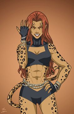 Cheetah (Earth-27) commission by phil-cho.deviantart.com on @DeviantArt