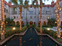 Courtyard inside Lightner Museum in St. Augustine Florida - 2 more wks and I will be herefora wedding can't wait!