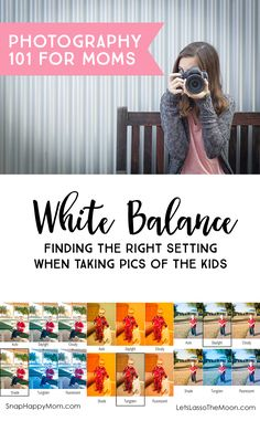 White Balance: Finding the right camera setting when taking pictures of the kids *Great visual photography examples of how to pick the right setting. Dslr Photography Tips, Photography For Beginners, Photography Business, Photography Tutorials, Digital Photography, Photography Lessons, Camera Basics, Camera Hacks, Camera Tips