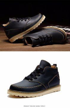 Men\u0027s Martin boots Cowboy Army Boots Combat Boots Botas Militares Rain  Boots Size39 44 ASM92-