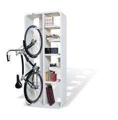 Bookbike by Byografia makes bike storage more attractive, functional and easier to integrate into your home deco