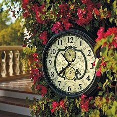 Outdoor Clocks - Outdoor Thermometer - Outdoor Clock Thermometer - Frontgate