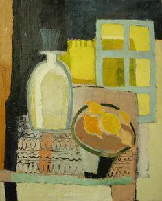 "Trendafila Trendafilova""Still life with lemons and window"" oil on canvas Fruit Painting, Yellow Painting, Love Painting, Figure Painting, Painting & Drawing, Composition Art, Still Life Art, Fruit Art, Cubism"