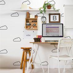 Adesivo Decorativo Nuvem - Mode Deco