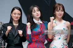 South Korean actors Sohn Su-Hyun, Ku Hye-Sun and Jung Hye-Seong attend the press conference for KBS Drama 'Blood' on February 11, 2015 in Seoul, South Korea. The drama will open on February 16, in South Korea.