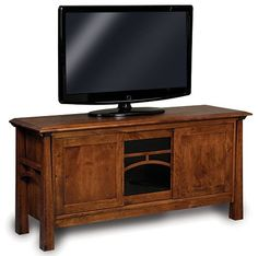 Solid Wood Amish Made TV stand: Classic design that is made to fit any space and TV