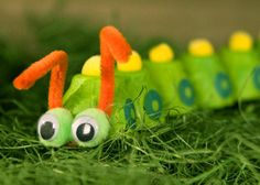 such a springtime classic! egg carton caterpillar #babycenterblog #springtimecrafts