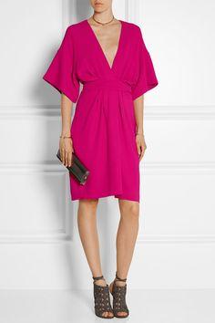 Issa | Geri stretch-crepe wrap-effect dress | NET-A-PORTER.COM