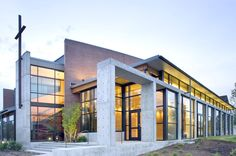 Modern Church Architecture Design Check out Mountain Laurel Handrails at http://awoodrailing.com