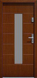 Drzwi zewnętrzne nowoczesne model 466,2b w kolorze ciemny dąb