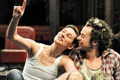 Lovestruck: Rosalind (Pippa Nixon) bonds with Orlando (Alex Waldmann) (Picture: Alastair Muir) in As You Like It - Royal Shakespeare Theatre, Stratford 2013