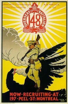 Affiche pour le recrutement lors de la Première Guerre mondiale 1915