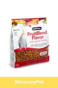MEDIUM BIRDS FruitBlend® Flavor with natural flavors provides healthy and delicious nutrition for everyday feeding for Cockatiels, Quakers, Lovebirds, Small Conures and other medium birds that prefer this pellet size. Birds 2, Love Birds, Conure, Bird Food, Cockatiel, Natural Flavors, Nutrition, Treats, Fruit