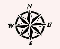 """MARINER'S COMPASS OCEAN STENCIL STENCILS FLEXIBLE SEA TEMPLATE NEW 7"""" x 5""""  Lacey this would look cool in the nautical bathroom."""
