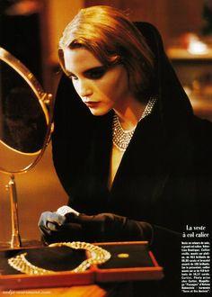 """Nadja Auermann """"Le Secrète"""" ph André Carrara for Vogue Paris August 1991 Vogue Paris, Irina Pantaeva, Life Reimagined, Nadja Auermann, Kirsty Hume, Vogue Photo, Model One, Mario Testino, Emmanuelle Alt"""