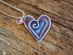 DirtKicker PoTTerY: Charm Necklaces ~ Ceramic Pendant Necklaces
