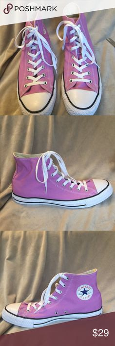 Converse All Star Men's 12 purple classic high top Converse All Star Men's 12 purple classic high top. New without rig. Small writing on bottom of one sole. Converse Shoes Sneakers