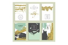 24 invitations with gold glitter