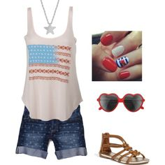 Date Night Outfit for 4th of July by sophie-ann-kerr, via Polyvore