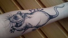 My very first tattoo is a rat! By Mirka at Bodliak Tattoo Žilina Slovakia Japanese tattoo sleeve btctrader1.weebly.com