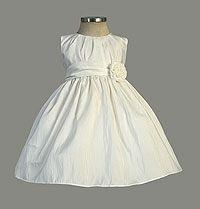Flower Girl Dreses - Flower Girl Dress Style 355 - Beautiful Pleated Solid Taffeta Dress
