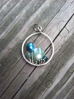 Garden pendant by NikkiMac on Etsy, $30.00