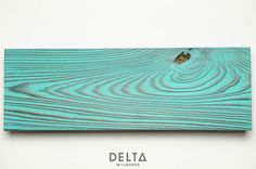 I Love this! Shou Sugi Ban ~ Tiger (smooth) with Turquoise stain.
