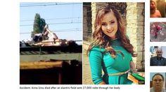 "Joven murió electrocutada al hacerse ""selfie especial"" en tren"