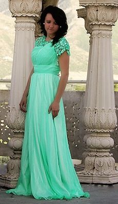 """(For the Strength of Youth- Dressing and Appearance:  """"Never lower your standards of dress.  Do not use a special occasion as an excuse to be immodest."""")  This amazing lady in Cedar Hills makes PROM AND PAGEANT dresses modest! (HOW REFRESHING) Then she sells and rents them out to girls looking for a formal dress! Need to remember!"""