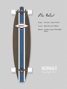 Norwaii Longboards - Blue Velvet 2013