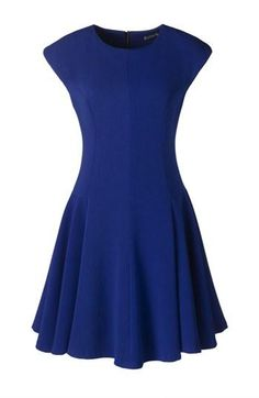 All about this royal blue skater dress.