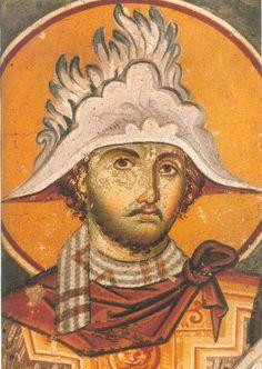 Saint Merkourios - 25th November. Fresco, Byzantine Art, Icon Collection, Orthodox Icons, Sacred Art, Christian Art, Illuminated Manuscript, Mosaic Art, Archaeology