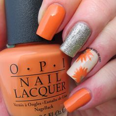 It's all about the polish: OPI - Where did Suzi's Mango floral design
