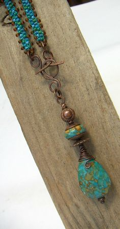 Mosaic Drop Necklace by annamei on Etsy