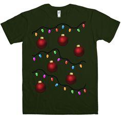 Funny Christmas T Shirt - Xmas Tree - Forest Green / XL
