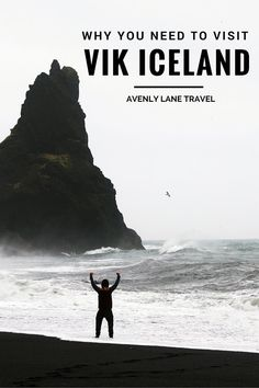 Vik is Iceland's southernmost village and faces the open Atlantic Ocean, framed…