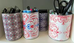 Craft ideas for the leftover wrapping paper and Mod Podge.