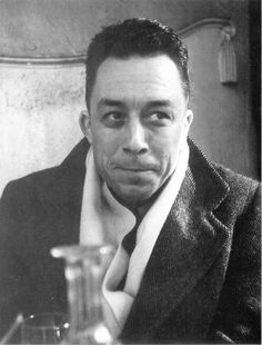 """Albert Camus (7 Nov 1913 – 4 Jan 1960) French-Algeria-born Nobel Prize winning author, journalist, and philosopher. His views contributed to rise of philosophy known as absurdism. . .awarded 1957 Nobel Prize for Literature """"for his important literary production, which w/ clear-sighted earnestness illuminates problems of human conscience in our times."""" ~ Gay Hendricks chose an Albert Camus quote on page October 7 in A YEAR OF LIVING CONSCIOUSLY."""