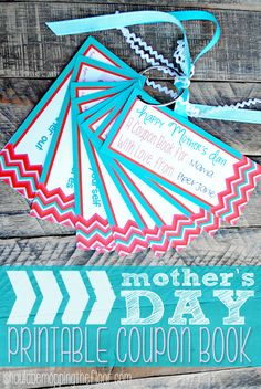 Free Printable Mother's Day Coupon Book . Forgot Mother's day. Here is a quick last minute gift idea or just something extra to throw in with a small gift. | I Should be Mopping the Floor. http://www.ishouldbemoppingthefloor.com/2013/05/mothers-day-printable-coupon-book.html