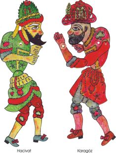 Karagöz and Hacivat Shadow Theatre – A Turkish Storytelling Tradition Shadow Puppets, Hand Puppets, Shadow Theatre, World Thinking Day, Shadow Play, Islamic Art, Cartoon Art, Figurative Art, Storytelling